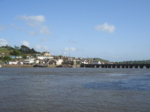 Leaving Bideford and the Long Bridge