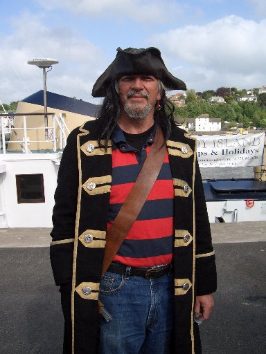 Aaarrr! says Vicar John Ewington, (our very own Appledore Pirate!)